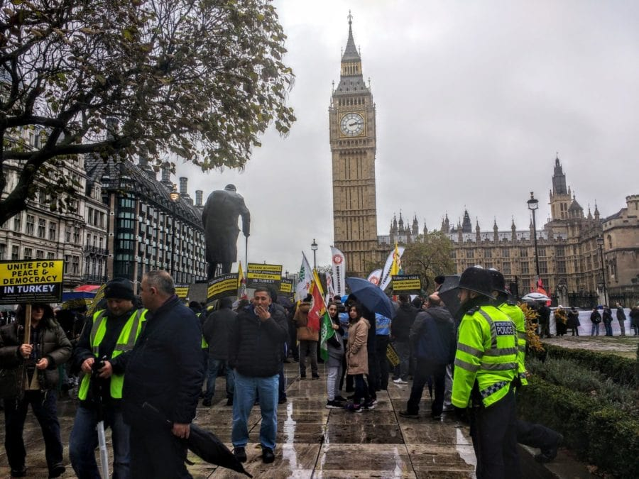 protests at Westminster