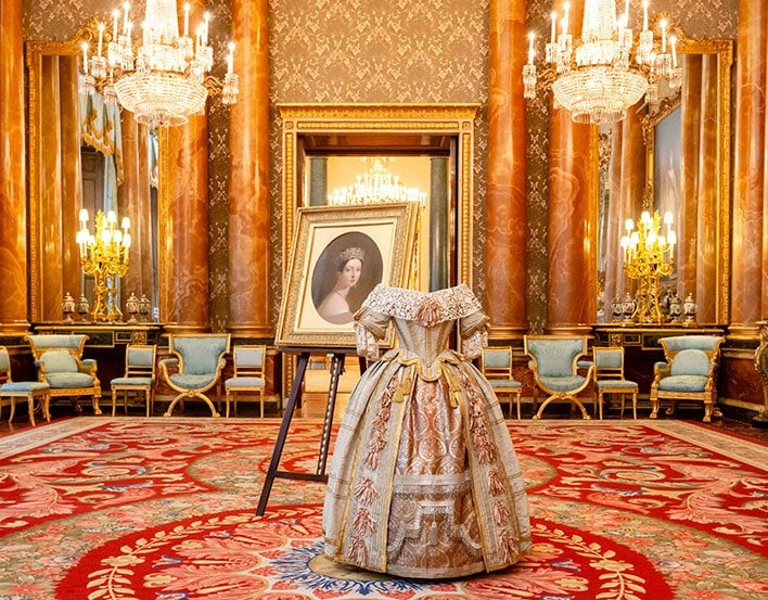 Queen Victoria's gown in Buckingham Palace