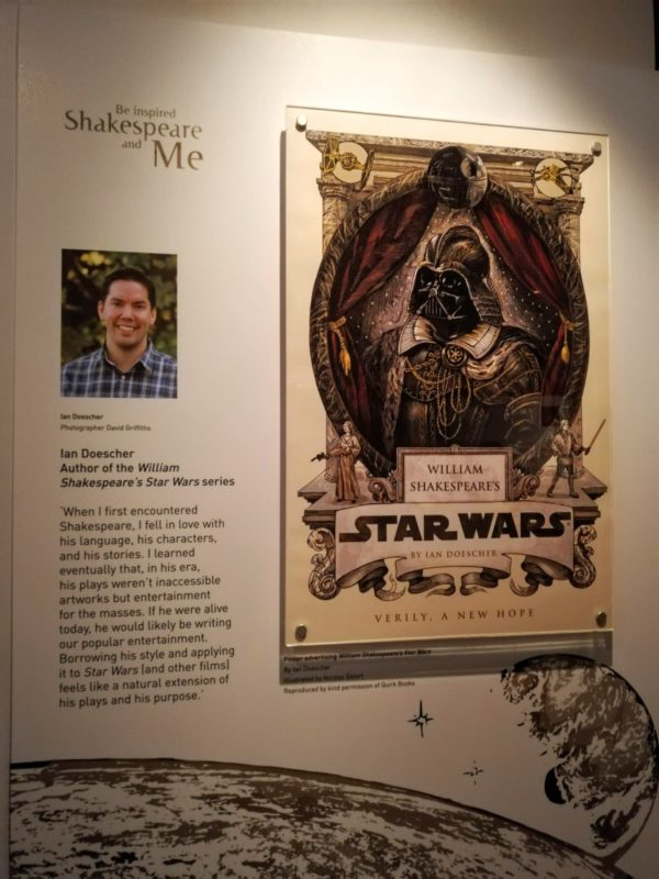 display in Stratford upon Avon of Star Wars William Shakespeare graphic novel