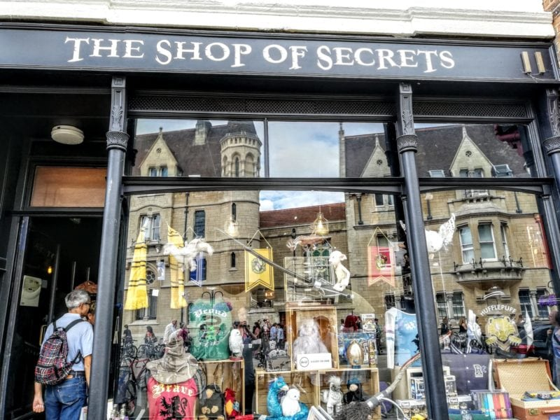 The Shop of Secrets another Harry Potter shop in Oxford