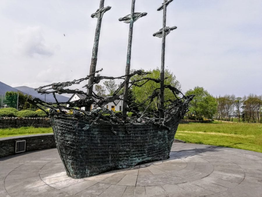 coffin ship famine memorial in Murrisk