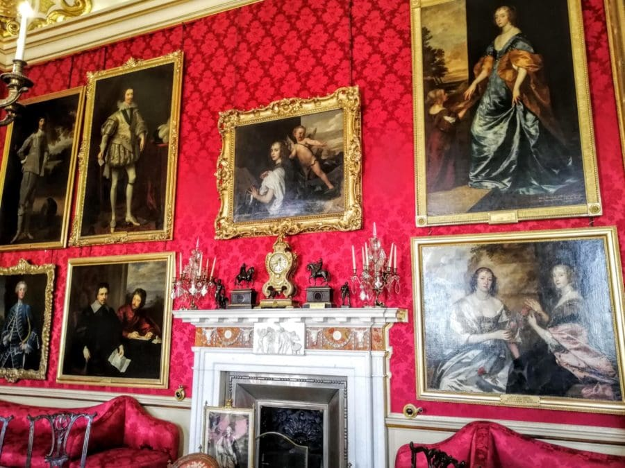 the Red Drawing room at Blenheim Palace