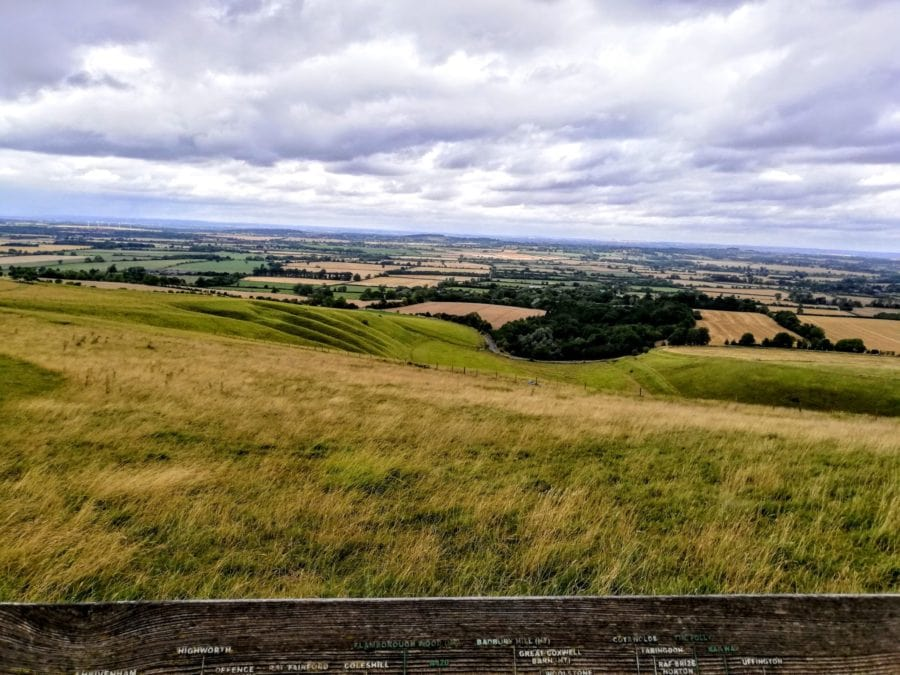 views from the white horse of uffington
