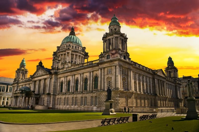 Belfast City Hall road trip around Ireland