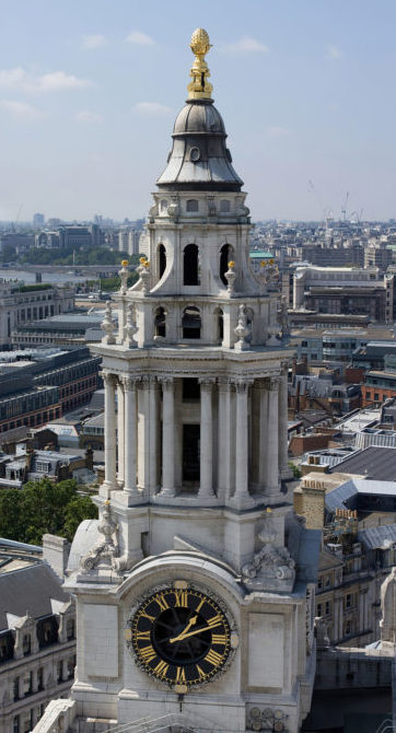 view of St. Pauls Cathedral top of the Dome