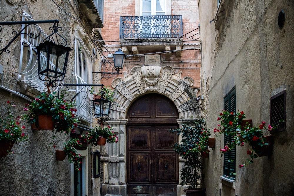 antique stone doorway in Calabria Tropea