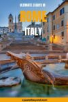 3 Days in Rome an Eternal City itinerary