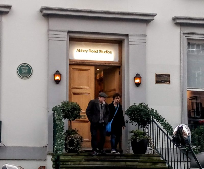 Abbey Road in London the studio's front door