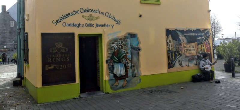 street art and buskers in Galway City