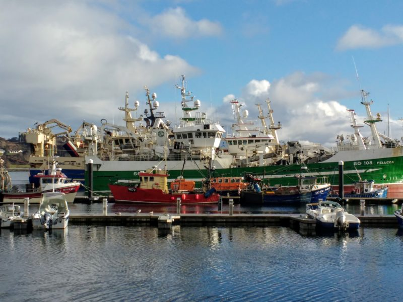 Killybegs harbour and the huge fishing boats