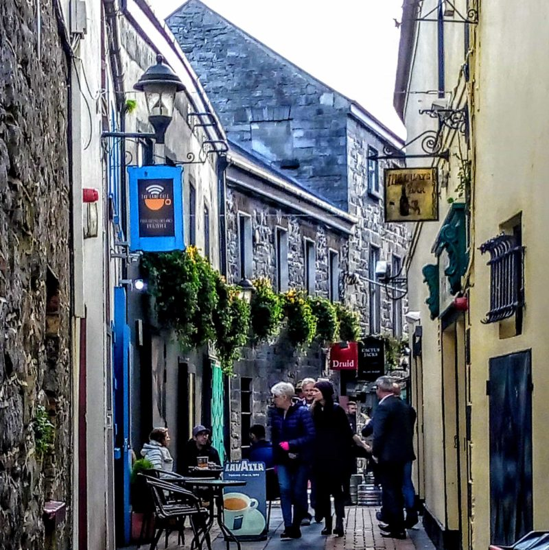 side streets of Shop Street in Galway when spending 48 hours in galway city