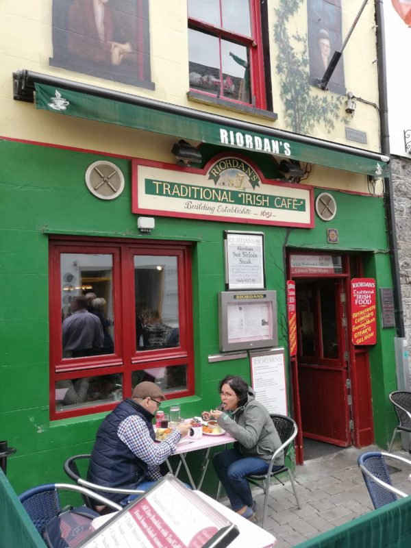 a traditional Irish Cafe in Galway City