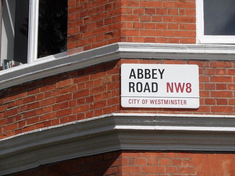Abbey Road in London the sign for the street is now high up and can't be reached