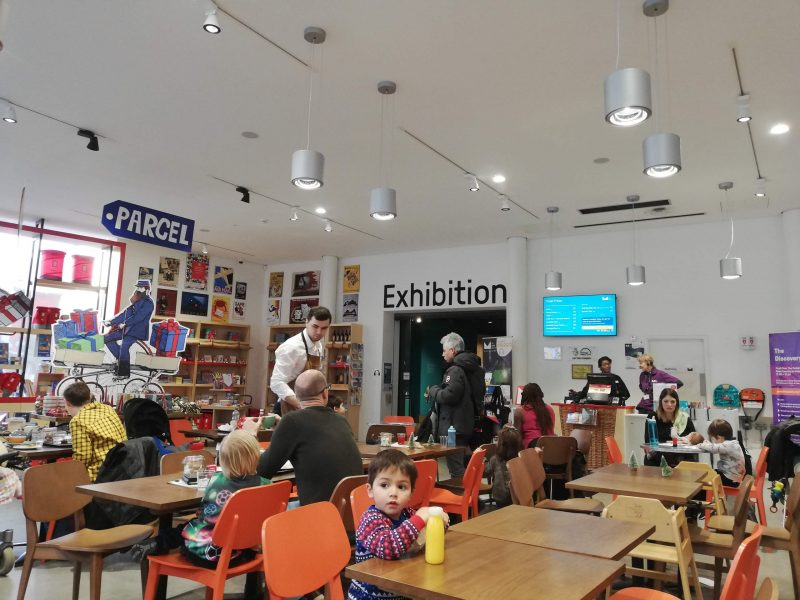 the Mail Rail and London Postal Museum Cafe