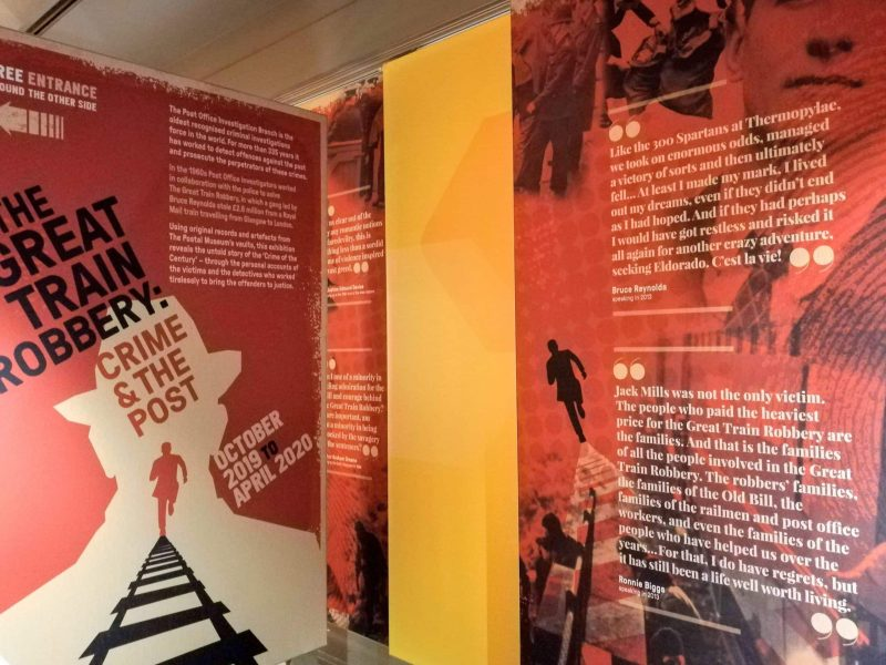 The Great Train Robbery exhibit at the British Postal Museum