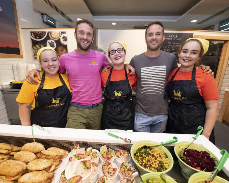 The vegan Happy Pear food and team at Dublin Airport