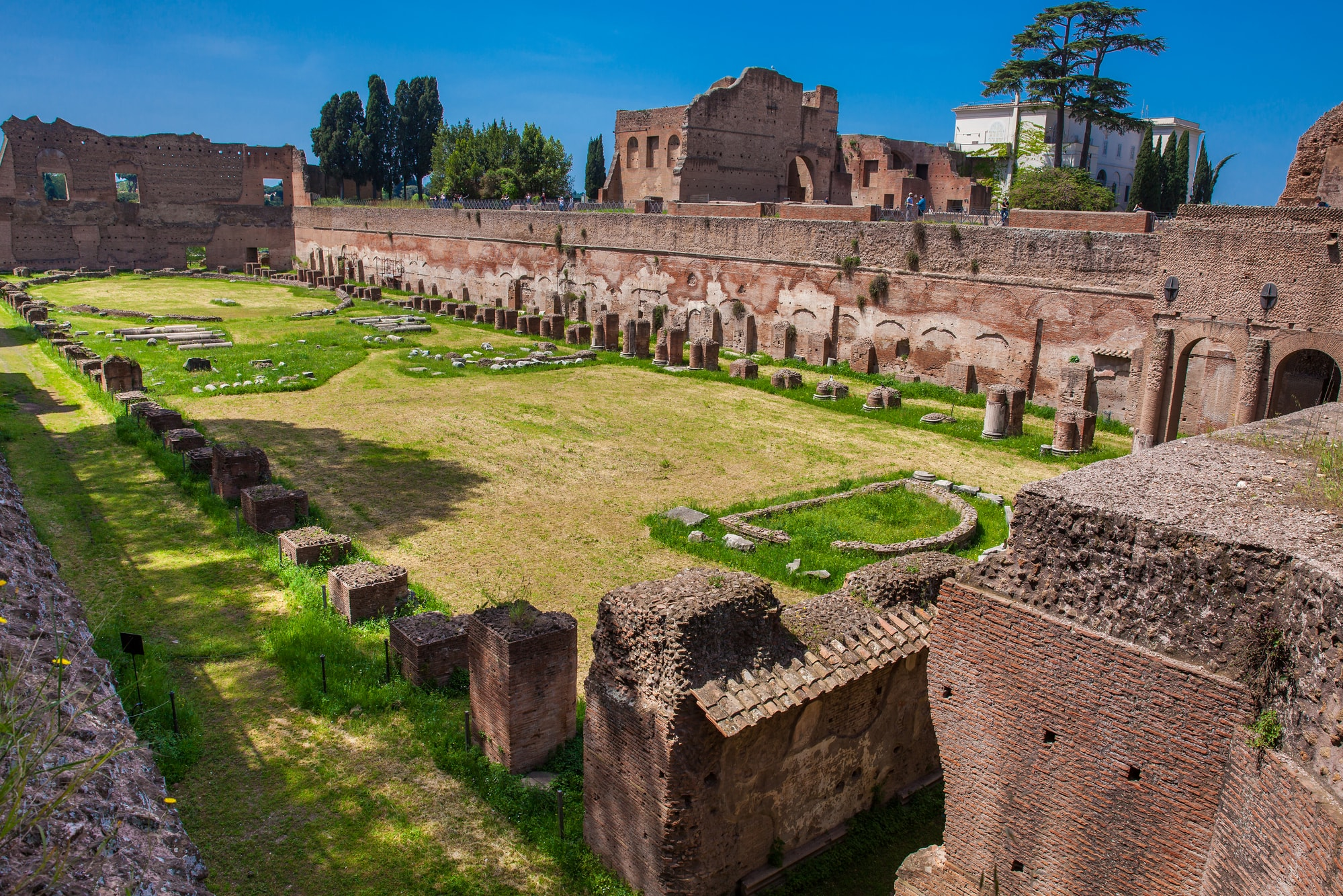 The Stadium of Domitian on the Palatine Hill in Rome