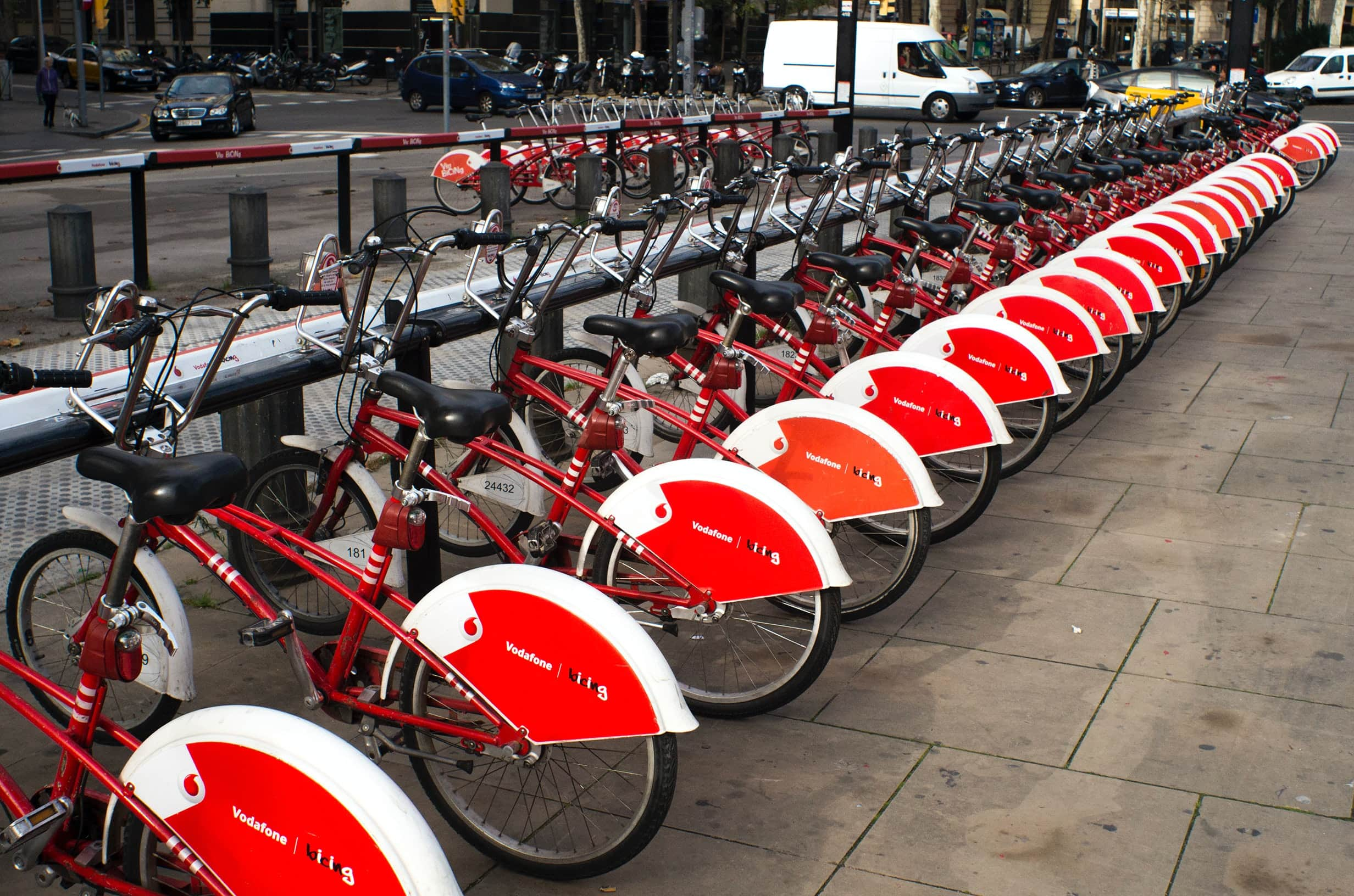 rental bicycles in Barcelona - one day in Barcelona