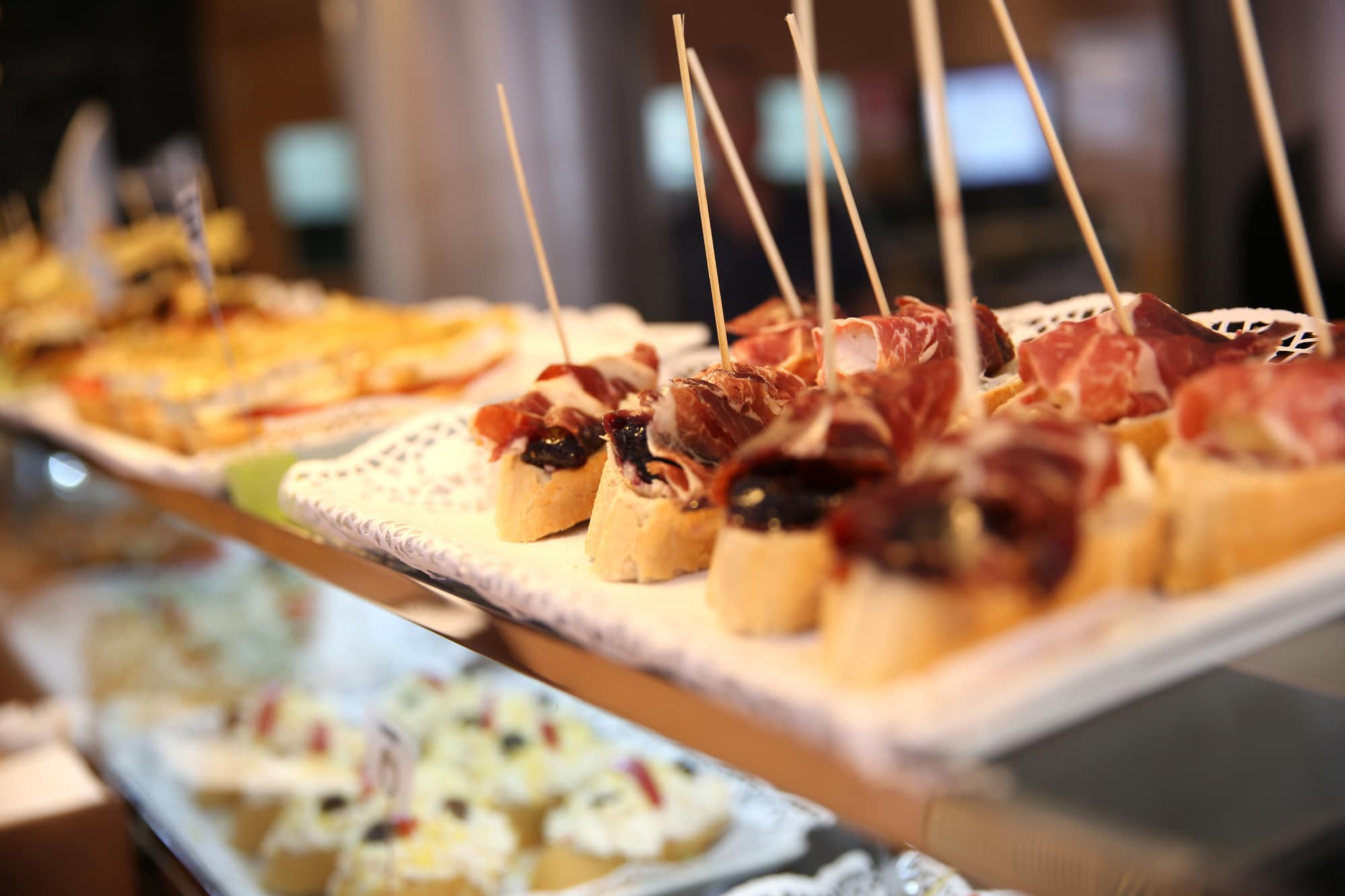 a delicious looking platter of Spanish tapa