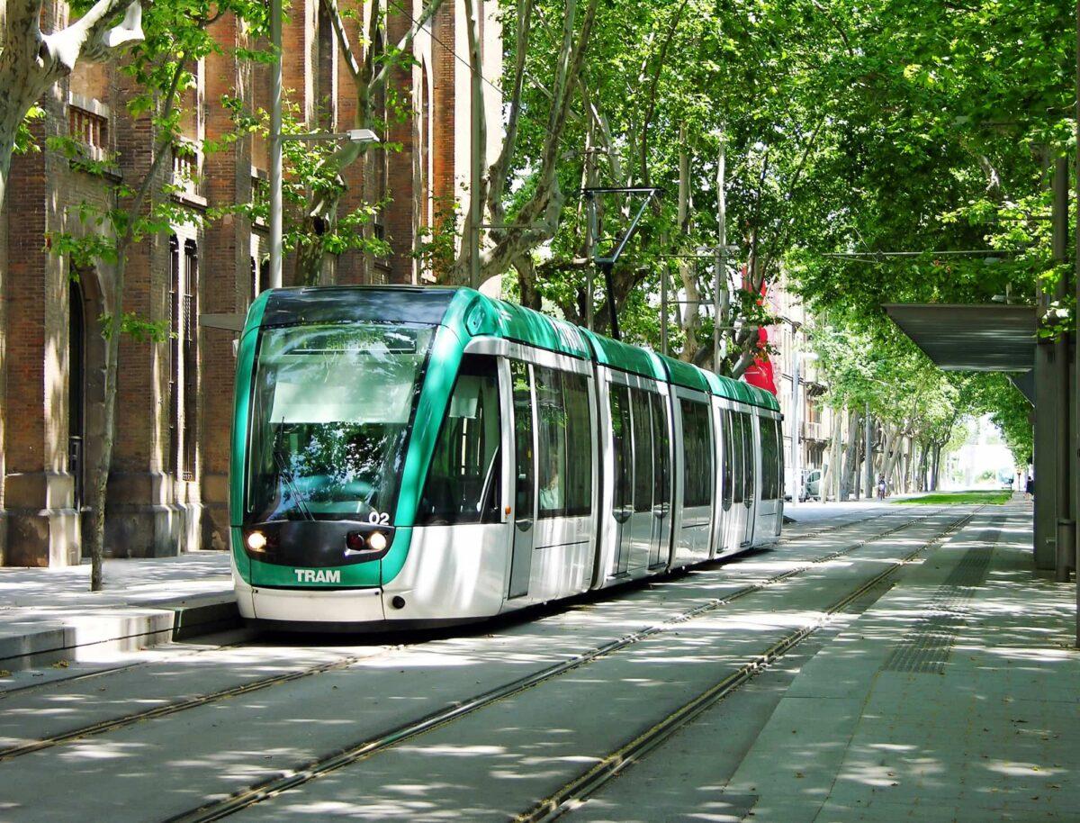 a street car in Barcelona