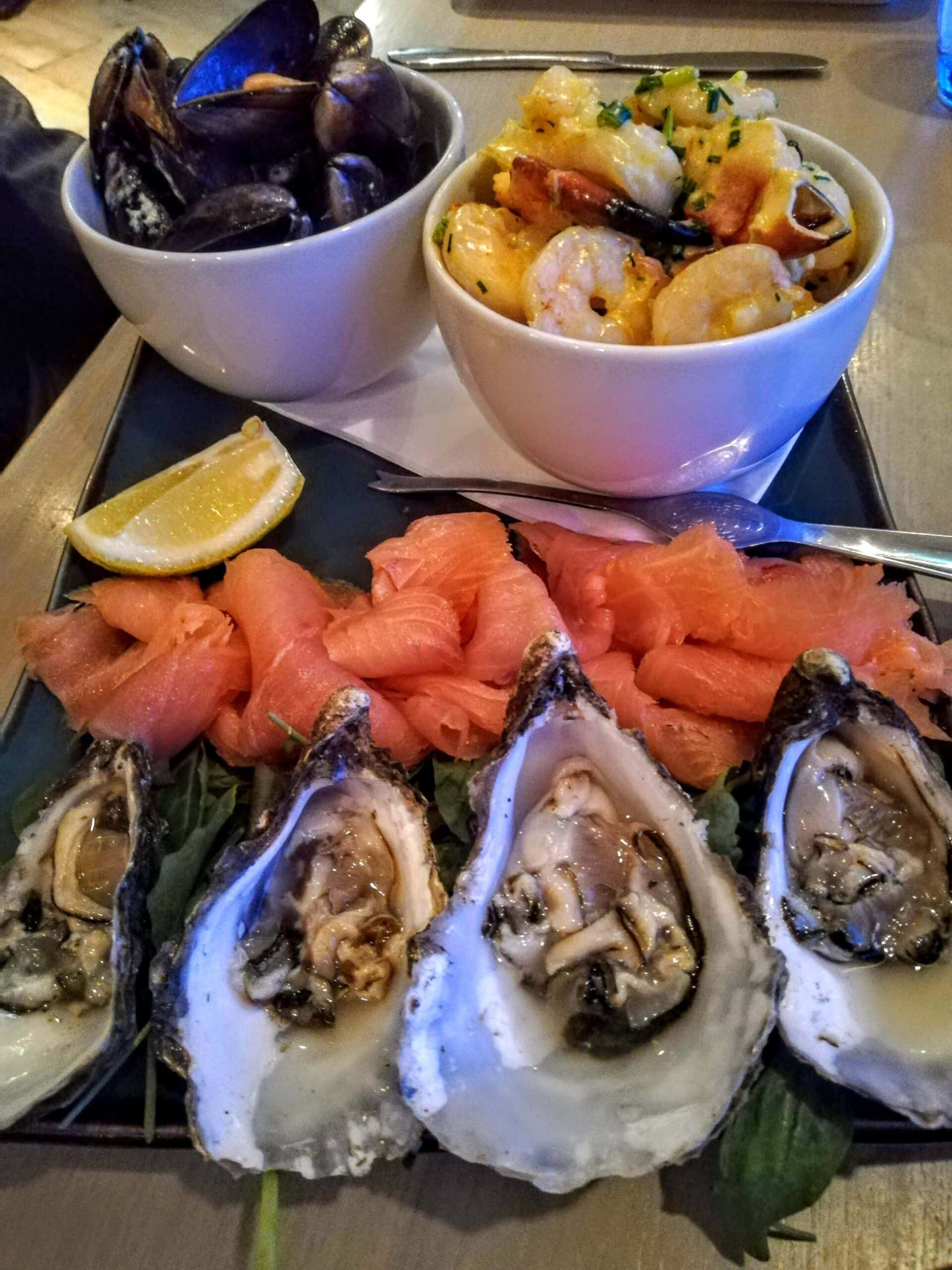 things to do in Mayo - a vast platter of Mayo seafood
