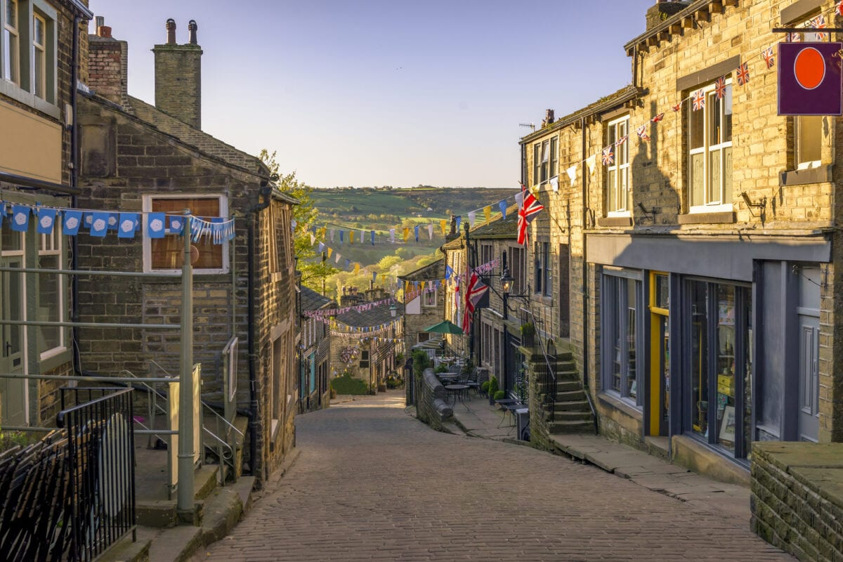 Bronte Country - A view of Haworth Village where the Bronte Sisters were born and raised