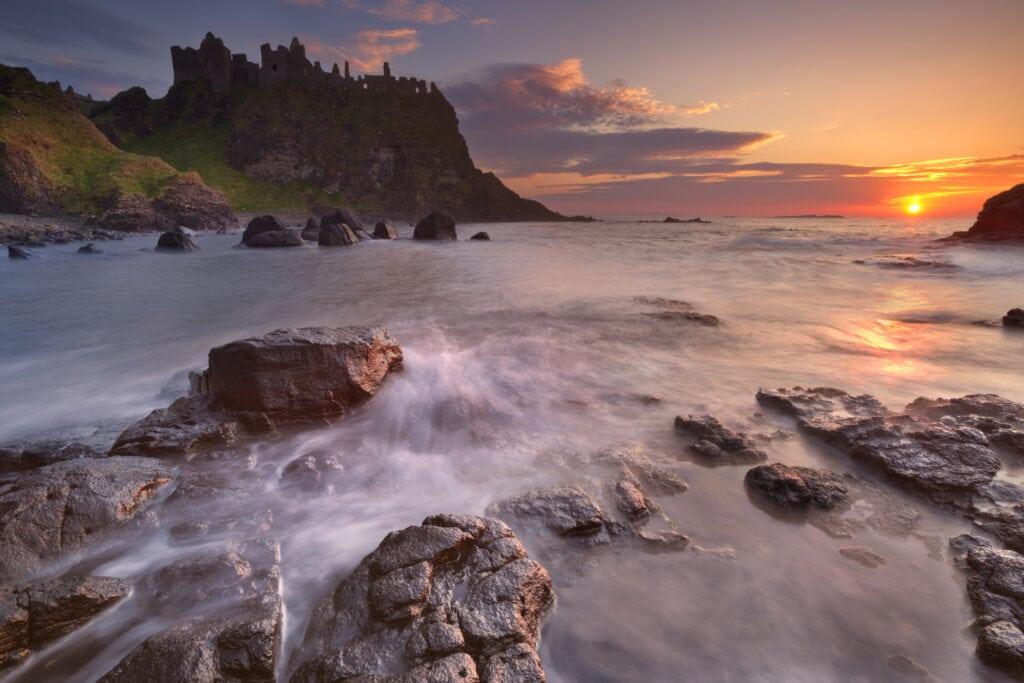 Dunluce Castle a romantic ruin in Northern Ireland