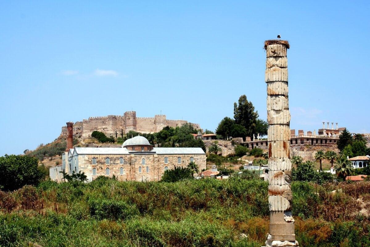 The Sacred Temple of Artemis at Ephesus