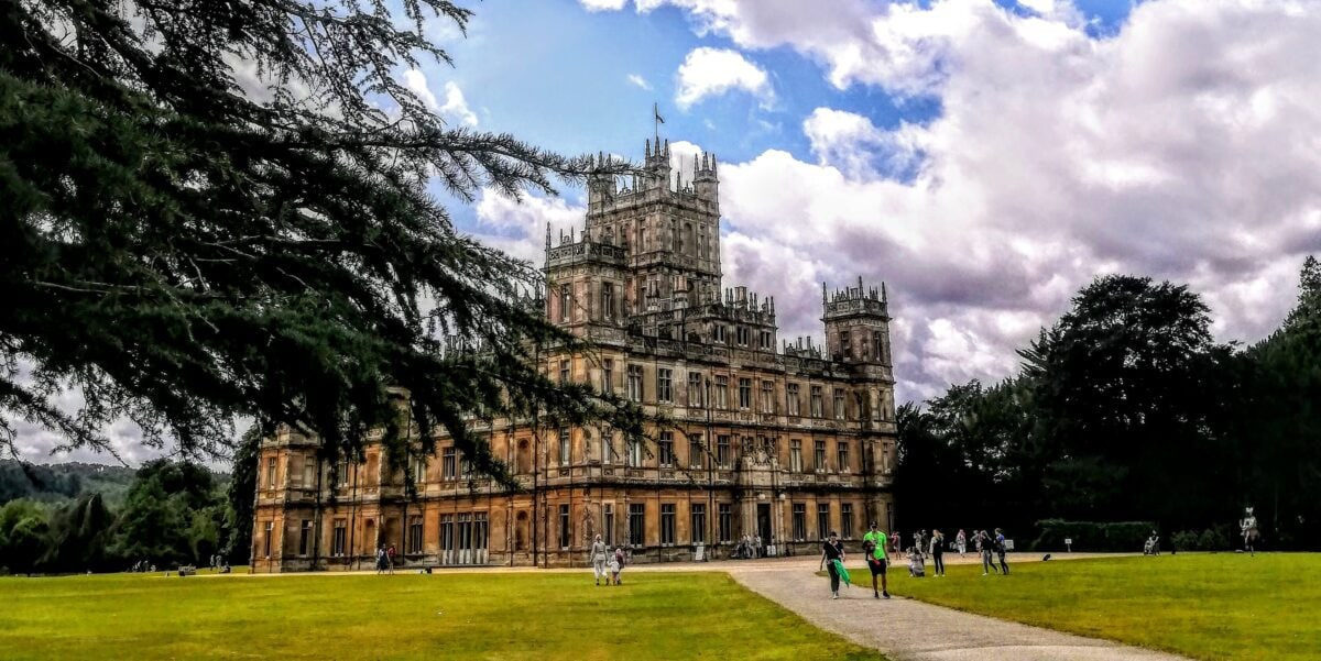 Highclere castle as it is now in years past it used to be an English Manor house