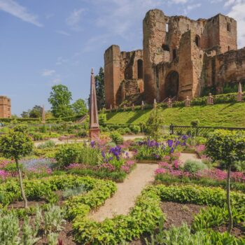 the elizabethan garden at kenilworth castle warwickshire the midlands england uk