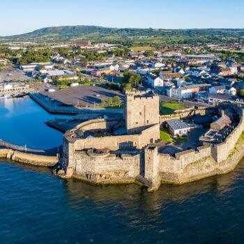 Medieval castle in Carrickfergus near Belfast