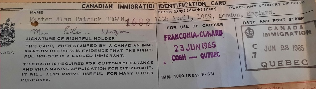 things to do in Cobh, an original emigration certificate to Canada from Cobh