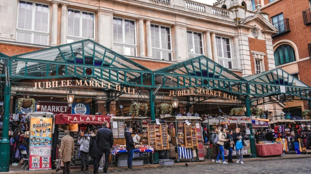 Outdoor scene of the Jubilee Market Hall at Covent Garden Market