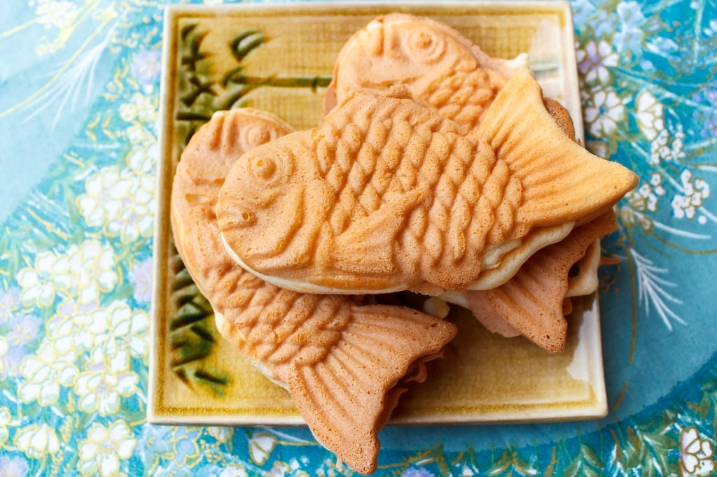 Japanese traditional fish-shaped cake, Taiyaki.