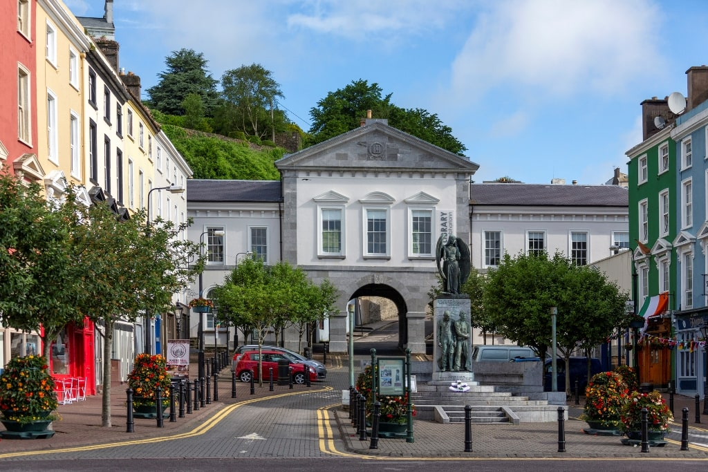 Town Square and Library in the seaport of Cobh - Ireland